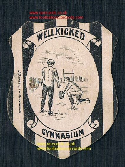 1880s Baines Manningham shield card Gymnasium rugby club